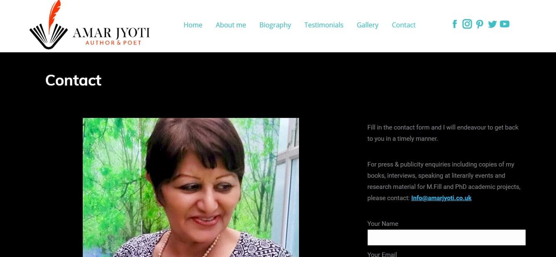 Contact Page Poet Website Design London Cheap Web Wants